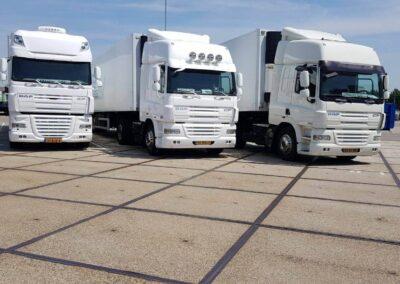 Van Nunen Transport vrachtwagens